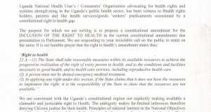 Proposed Constitutional Amendments for the Right to Health in Uganda